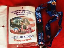 Obama 56th Inauguration 2009 44th President Official Participant Lanyards