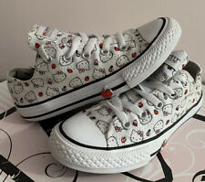 Girls Hello Kitty Converse Size 13.5, Excellent Condition