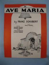 Ave Maria Sheet Music Vintage 1935 Franz Schubert Jerry Castillo Jim Smock (O)