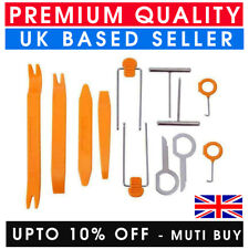 12 PCS REMOVAL PRY TOOL KEY KIT CAR RADIO DOOR CLIP PANEL TRIM DASHBOARD AUDIO