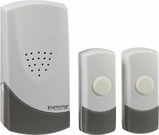 Knightsbridge 100M Wireless doppia entrata porta campana campanel Twin Push plug in