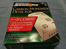 American Sensors Carbon Monoxide Detector (C0800) Low Level Warning