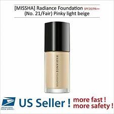 MISSHA Radiance Foundation SPF20/PA++ (No. 21/Fair) - US SELLER -
