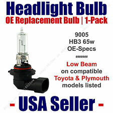 Headlight Bulb Low Beam OE Replacement Fits Listed Toyota & Plymouth Models 9005