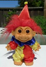 """Vintage Russ #18334 Troll Doll 7"""" Clown in Costume Jester"""