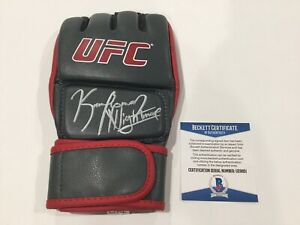 Kamaru The NIGHTMARE Usman Signed Autographed UFC Glove BECKETT BAS COA b