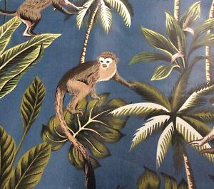 Oilcloth fabric, PVC coated, Prestigious, Tropical Monkeys Design, Offcut