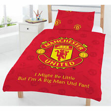 MANCHESTER UNITED TODDLER/ COT  QUILT DOONA COVER SET