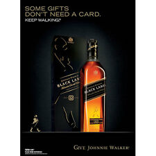 """JOHNNIE WALKER """"NO GIFT CARD"""" POSTER  18 BY 27"""
