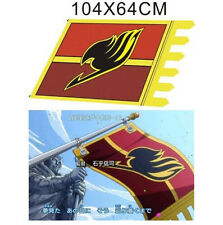 Japan Anime FAIRY TAIL Natsu Dragneel Guild Cosplay Flag Badge Banner