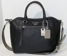 NEW Guess Aerial Satchel Handbag Shoulder Bag Purse Black NWT