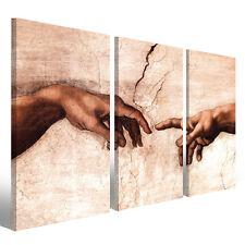 Quadri moderni Creazione di Adamo stampe su tela 130 x 90 cm 3 tele modello XXL