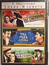 Cuando Quiere un Mexicano/Tal Para Cual/No Basta Ser Charro DVD, 3 Jorge Negrete