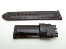 Panerai BURGUNDY RED croc strap 24mm/22mm TANG BUCKLE ONLY  125mm/75mm for 44mm