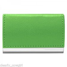 #8064 - WELLSPRING GREEN SIGNATURE MAGNETIC FLIP CASE BUSINESS CARD HOLDER -WOW