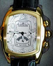 Invicta SP EDT.Men's GOLD Dragon Lupah Quartz Watch w/ 5-Piece Leather Strap Set