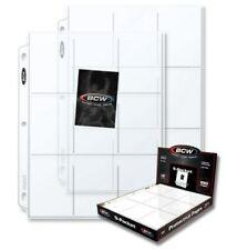 Box 100 BCW 9-Pocket Trading / Baseball Card Album Pages / Coupon Binder Sheets