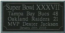 Super Bowl 37 engraving, Tampa Bay Buccaneers