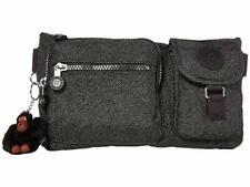 Kipling Presto SPC Black Belt Bag Fanny Pack Waist Bag Galaxy Twist Silver NEW