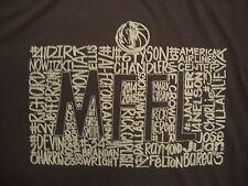 NBA Dallas Mavericks National Basketball Association Fan Gray Soft T Shirt XL