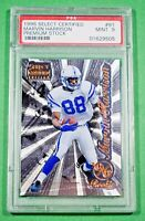 Marvin Harrison 1996 Select Certified RC Rookie Premium Stock PSA 9 HOF Colts