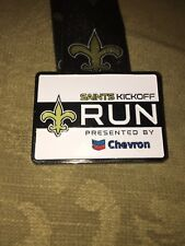 New Orleans Saints Back to Football Marathon Run Medal 2014