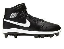 Nike Mens SIZE 10.5 Air Jordan 1 Retro MCS Baseball Cleats Black AV5354-001 NEW