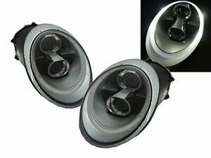 CARRERA 911 997 2005-2012 2D Projector R8Look Headlight Chrome for PORSCHE RHD