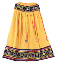 Embroidery Vintage Hippie Banjara Indian Women's Skater Long Skirt Retro Skirts