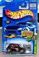 HOT WHEELS MINI COOPER 2002 TREASUER HUNT REDLINE REAL RIDERS METAL/METAL HTF!