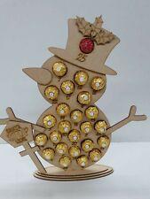 MDF Snowman Advent Calendar, fits Ferrero Rocher chocolates.