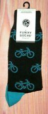 MENS FUNKY SOCKS BICYCLE BLACK SOCKS (SHOE SIZE 6-12)