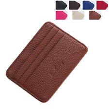 Super Slim Leather Credit Card Holder ID Card Photo Slot Travel Pocket Wallet