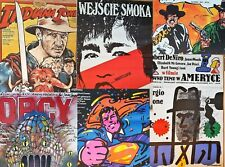 Set of 24 best Polish posters from 1980s, Indiana Jones, Superman, Wall street