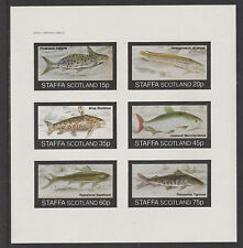 GB Locals - Staffa 3541 - 1982  FISH  imperf sheet of 6 unmounted mint