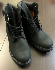 NEW Timberland 6 Inch Premium Nubuck Black Waterproof Men's Boots US 9