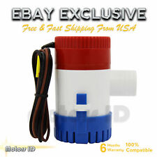 12V Marine Electric Water Bilge Pump 1100GBP For Boat Caravan RV Submersible