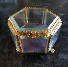 Coffret à bijoux reliquaire verre biseauté Napoléon III