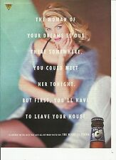 The Woman of Your Dreams is Out There...Lite Ice beer- 1995 print magazine ad.