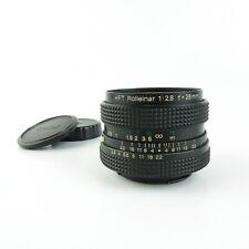 Für Rollei QBM HFT Rolleinar 1:2.8  f=28mm Objektiv lens + caps