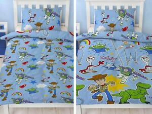 Toy Story 4 Reversible Single Duvet Cover Bedding Set Roar Disney Children Kids