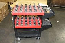 LOT OF 56 TAPER TOOL HOLDER SHRINKER & PARLEC WITH CART AND VISE