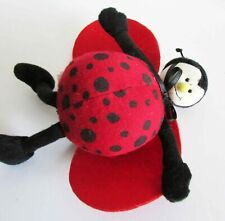 "Vintage Collectible Baby Ladybug Rattle 1997 American Bear Co 6"" Free Sh"