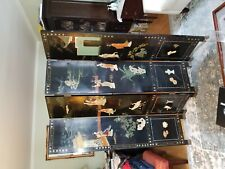 Stunning hand-painted Chinese wood screen room divider