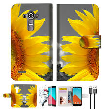Sunflower Wallet TPU Case Cover For LG G4-- A012
