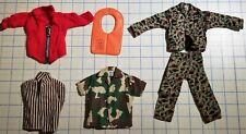 Vintage Original GI Joe Clothes Mixed Lot- Uniforms and Life Vest