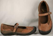Women's KEEN Brown Leather Casual Mary Janes US 8 UK 5.5 EUR 38.5