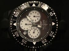 Invicta Mens 50mm Excursion Black Bezel Quartz Dial Chronograph Silicone Watch