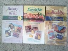Disney Read Along Pop-up Books Cassette Aladdin Beauty Beast Snow White