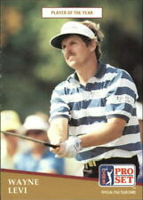1991 Pro Set Golf Card #283 Wayne Levi POY